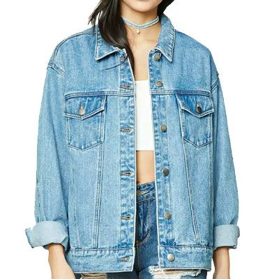 Womens Basic Down Denim Jacket Distributor