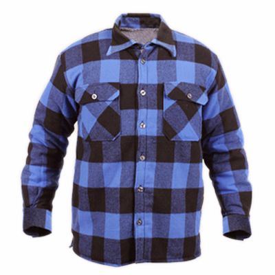 Black and Blue Flannel Shirt Supplier