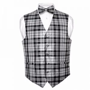 Black and White Checked Waistcoat Distributor