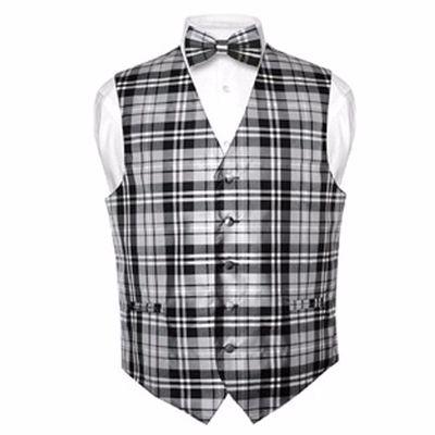 Black and White Checked Waistcoat Distributor