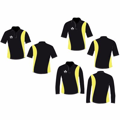 Black Yellow Cricket Shirts Supplier