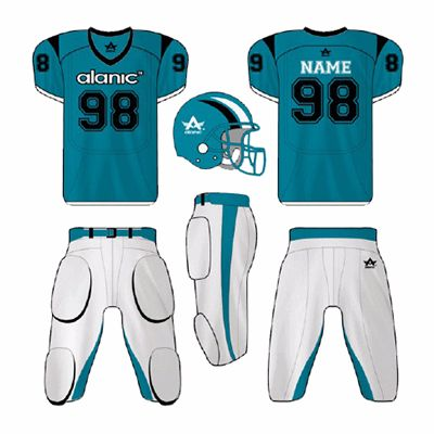 Blue and White American Football Clothes Distributor