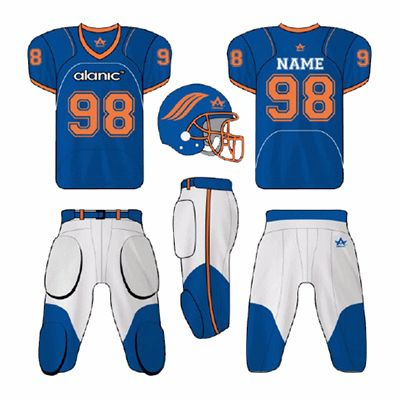 Blue and White American Football Clothing Supplier