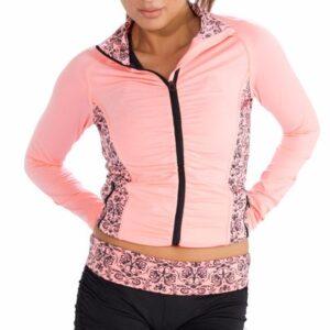 Designer Pink Printed Fitness Jacket for Women Manufacturer