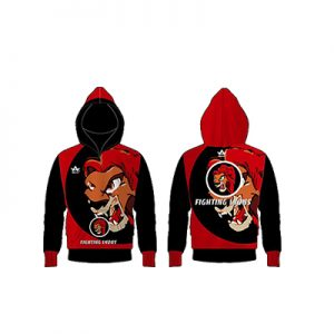 Fighting Lyons Red Black Sublimation Hoodie Manufacturer