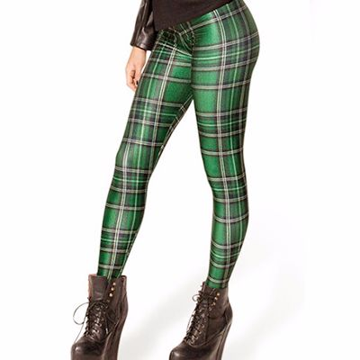 Wholesale Green Magic Woman Flannel Leggings
