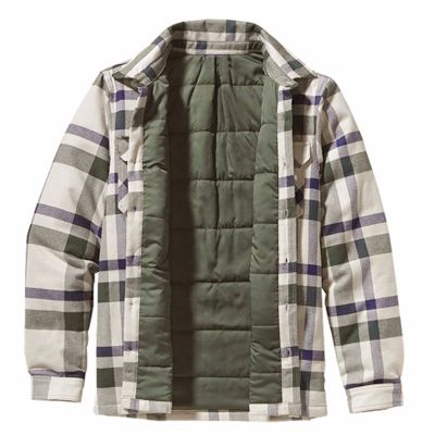 Grey and Blue Flannel Jacket Distributor