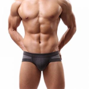 Grey Color Block Men's Underwear Distributor