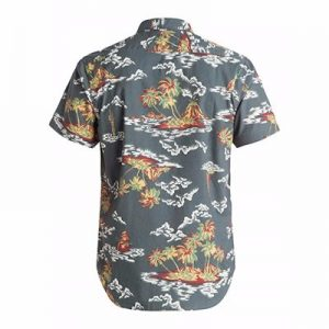 Wholesale Grey Tropical Print Sublimated Shirt