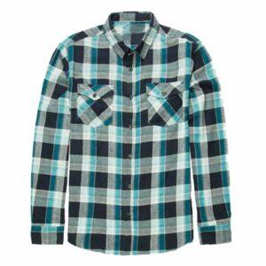 Ice Blue Grey Flannel Shirt Supplier
