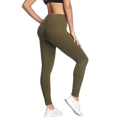 Latest Design Khaki Women Yoga Leggings Supplier