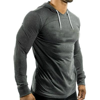 Mens Muscle Fit Fitness Hoodie Supplier