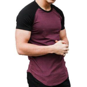 Mens Two Color Stretch Cotton T-Shirt Supplier