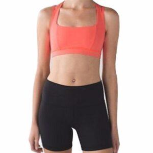 Orange Bra and Black Shorts Fitness Wear Set Distributor