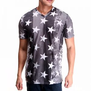 Printed Grey Sublimation T-Shirt Supplier