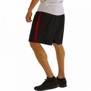 Pure Black with Red Side Fitness Shorts Supplier