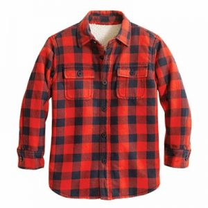 Wholesale Red and Blue Flannel Shirt