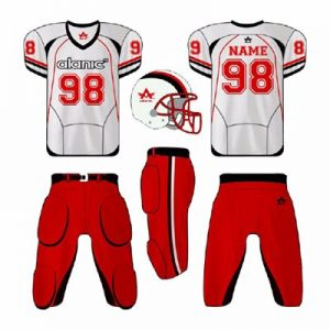 Red and White American Football Jersey Distributor