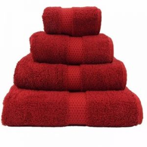 Rich Red Egyptian Towels Distributor