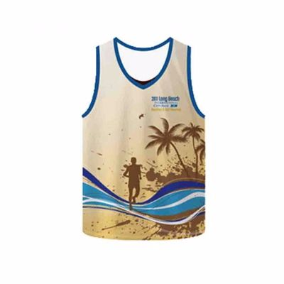 Soft Print Sleeveless Running T-Shirt Distributor