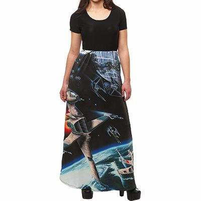 Space Print Sublimated Maxi Skirt Manufacturer