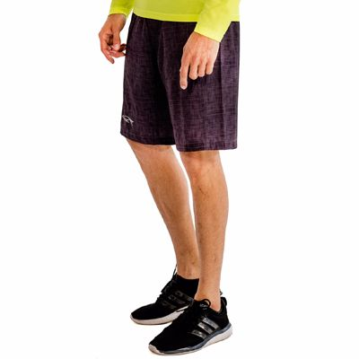 Stone Washed Purple Fitness Shorts Supplier