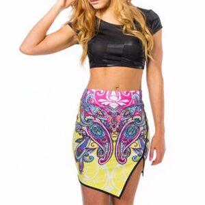 Sublimated Floral Print Pencil Skirt Manufacturer