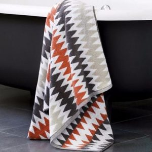 Wholesale Terracotta Herringbone Hotel Towels