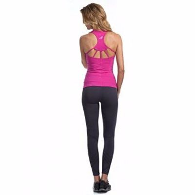 Yoga Set with Pink Top and Navy Blue Leggings Supplier