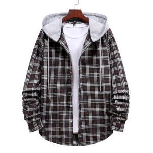 flannel hood shirts for men manufacturer